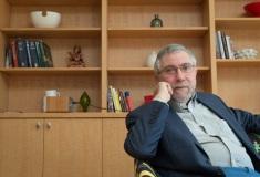 Paul Krugman @ his home, NYC, 2013.