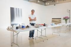 Hiroshi Senju @ his studio, Pleasantville NY, 2014.
