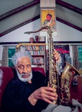 Sonny Rollins @ his home, Germantown NY, 2005.